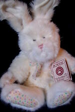 """Boyds Bears Jointed Weighted Plush 13"""" Hare / Bunny Dottie Q Hopples w/ Tags"""
