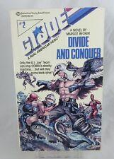 RARE 1988 Ballantine PAPERBACK BOOK GI JOE DIVIDE AND CONQER NOVEL MARGOT BECKER