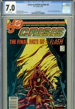 """Crisis on Infinite Earths #8 CGC 7.0  """"Death"""" of the Flash"""