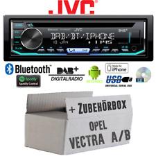 Radio JVC Bluetooth | DAB+ | CD | Spotify | USB | Einbauset für Opel Vectra A+B