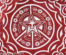 SHEPARD FAIREY (aka OBEY) 'Ornate' Artist's Scarf, Red, 48 x 48 in. **NEW**