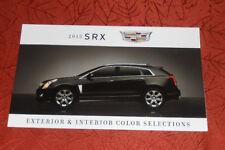 Cadillac 2015 SRX Exterior & Interior Color Chip Brochure