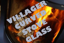 CURVED VILLAGER STOVE GLASS - CONCAVE HIGH DEFINITION SCHOTT ROBAX STOVE GLASS