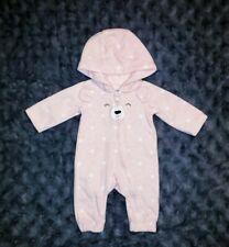Vguc Carters Baby Girl Clothes Newborn One Piece Fleece Hooded Bear Romper