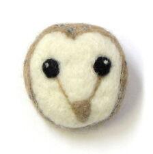 Barn Owl Brooch Mini Needle Felting Kit + Foam Felting Block Hawthorn Handmade
