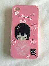 Pink 'mamamia' Phone Case for iphone 4