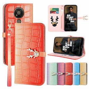 Leather Elk Flip Wallet Phone Case For Nokia Google Motorola Huawei 1+ Sony 10 5