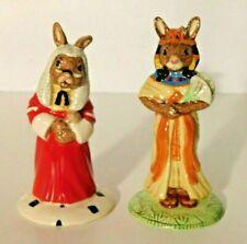 Royal Doulton Bunnykins Figurines Judge Db188 + Ankhesenamun Db295 Lot of 2