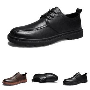 Retro Mens Dress Formal Business Leisure Shoes Pointy Toe Oxfords Work Office L