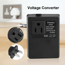 Travel Voltage Converter Transformer 220V to 110V 200W Step Down Converts JS