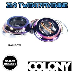 Colony Integrated BMX Sealed Bearing Headset & Top Cap RAINBOW 55gms