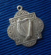 Irish STERLING SILVER MEDAL ou Fab-Harpe-Dublin H/M 1939 pas gravé