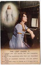 BAMFORTH SONG CARD #4830/3 - The Lost Chord - Church Organ - c1910s era postcard