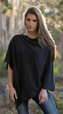CASHMERE Poncho CHARCOAL GREY CAPE Wrap One Size Fits All, FREE UK Shipping,gray