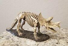 Triceratops Dinosaur Skeleton Model Figure Statue / Spooky Halloween Decor 17in