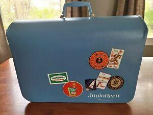 Vintage Juniorteen Luggage Garmet Bag Blue Excellent Condition Hilton TWA