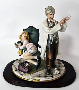 "11"" Vintage Italian Capodimonte Bellini Porcelain Doctor With Girl Syringe"