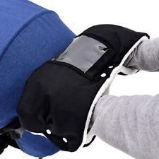 Warm Baby Stroller Windproof Gloves Pushchair Thick Fleece Hand Muff Black