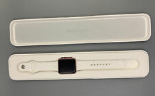 Apple Watch Gen 1 42mm Rose Gold Aluminum Case Series 7000 White Sport Band
