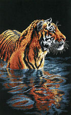 Cross Stitch Kit ~ Dimensions Big Cat Tiger Chilling Out in Lake #35222