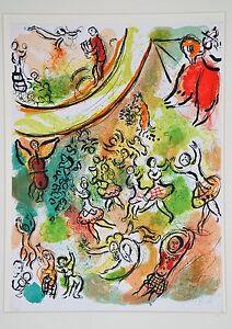 "Marc Chagall b.1887-1985 ""Le Plafond De L'Opera De Paris""   Orange Green Yellow"