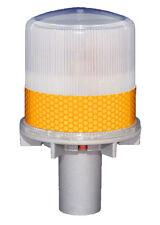 S4L AMBER YELLOW FLASHING Solar LED Light Barricade Flasher Traffic Marine Boat