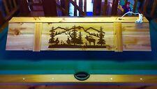 "New Elk Hunter Pool Table Poker Wood Billiards Light 52"""