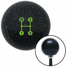 Green 3 Speed Shift Pattern - Dots 11n Black Metal Flake Shift Knob for MT Manua