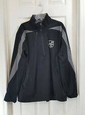 New listing Antigua La Kings Hockey Mens Size Xxl 1/4 Zip Windbreaker Jacket Black Gray Euc