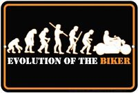 EVOLUTION OF THE BIKER / Motorcycle sign  ..  8x12 metal sign