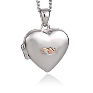 Clogau Silver Locket 22'' 925 Heart Insignia Tree of Life Welsh Rose Gold Pendan