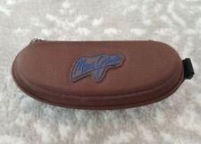 Maui Jim Sport Small Brown Zipper Clip Hard Shell Sunglass Case GREAT CONDITION