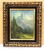 Beautiful Oil on Canvas Scenic Mountain Painting FRAMED