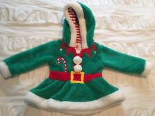 Christmas Outfit Top/tunic/dress with hood 12-18 Months
