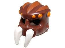 LEGO - Minifig, Headgear Mask Spider w/ White Pincers & Orange Spots - Brown