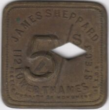 More details for james sheppard 5 over 2 shilling lower thames token | pennies2pounds
