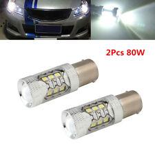2Pcs 1156 Bombilla LED Lámpara Luz Antiniebla Faros Kit Car luz de freno universal coche