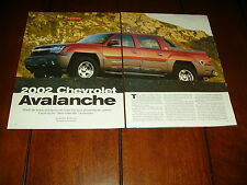2002 CHEVROLET AVALANCHE   ***ORIGINAL ARTICLE***
