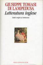 1990 – TOMASI DI LAMPEDUSA, LETTERATURA INGLESE. DALLE ORIGINI AL SETTECENTO