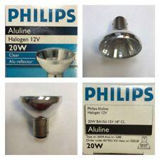 PHILIPS Aluline Halogen B15d 12V 20W 18º 6434 Halogenlampe klar Alu reflector