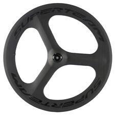 700C Rear Tri Spoke Road Bike Carbon Wheel Superteam Tri Spoke Bicycle Wheel