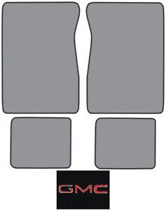 1971-1972 GMC C15/C1500 Suburban Loop Carpet Logo Floor Mat 4pc