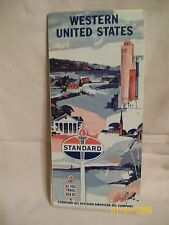 Vintage STANDARD oil company road map  Western United States  1960 census