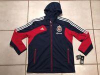 Rare NWT ADIDAS Chivas USA MLS Presentation Hooded Jacket Men's Large