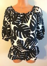 • Women's Size Small White House Black Market Shirt Silk Polyester Lined Nice!