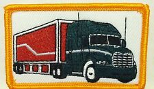 TRUCK GREEN & RED COLOR Embroidery Iron-On Patch Trucking Emblem Gold Border