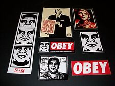 Shepard Fairey Obey Giant Sticker Set 13 corpopate violance, 3 Faces