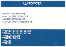 Forklift Operator Manual - Toyota 7 Series (1 - 3 Tonne)