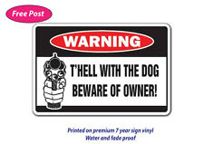 Beware of owner sticker water & fade proof safety oh&s 7 year vinyl dog warning