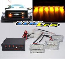 Amber 18 LED Emergency Vehicle Strobe Flash Lights for Front Grille/Deck #6